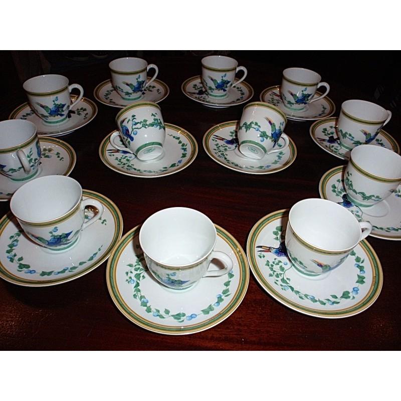 service tasses caf herm s toucans le grenier d 39 amatxi. Black Bedroom Furniture Sets. Home Design Ideas