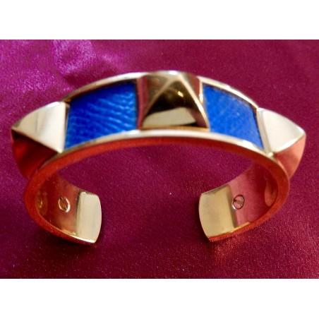 Bracelet Hermès jonc rigide cuir Courchevel
