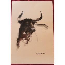 Jacques Lasserre litho taureau
