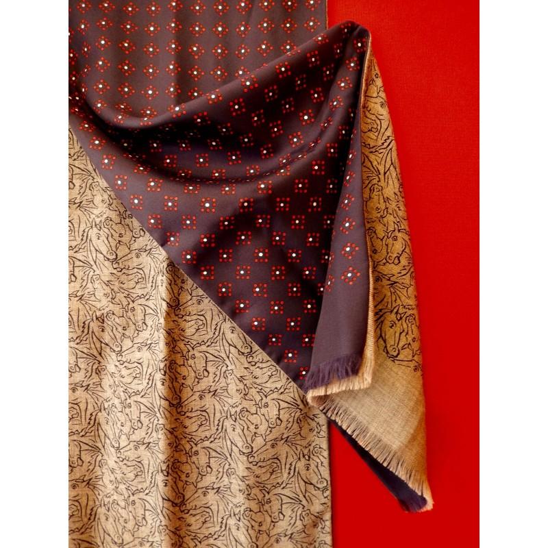 Echarpe homme Hermès soie et cachemire - Le grenier d amatxi 79a6e6fc560