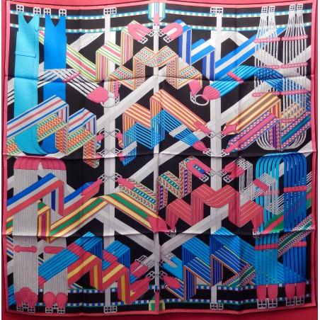 Carré Hermès Sangles en zigzag