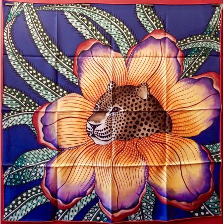 Carré foulard Hermès Baobab cat