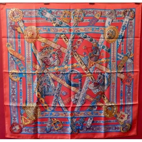 Carré foulard Hermès Le songe de la licorne