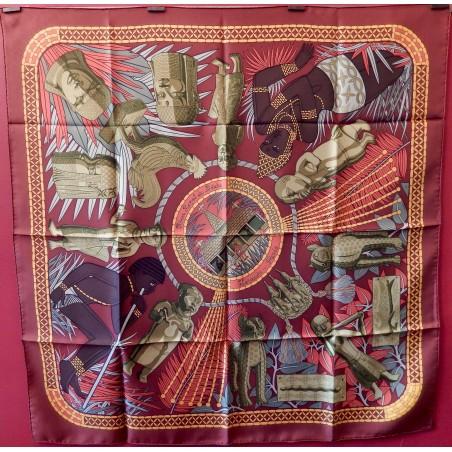 Carré foulard Hermès Trésor royal du Bénin
