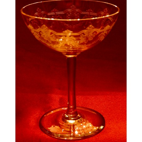 Coupes à champagne Baccarat Beauharnais