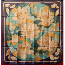 Carré foulard Hermès Fleurs...