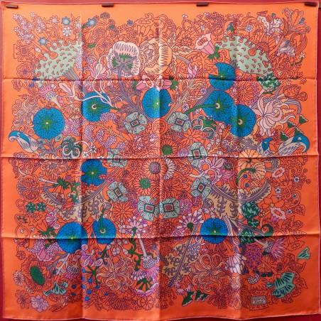 Carré foulard Hermès Cache-cache fleuri