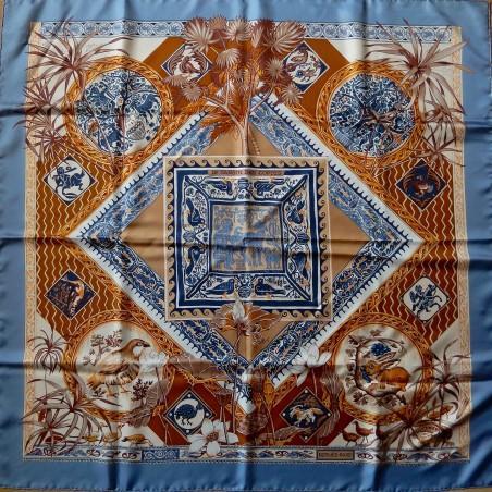 Carré foulard Hermès Le jardin des coptes