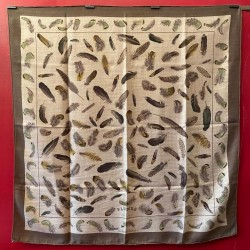 Carré foulard Hermès Plumes...