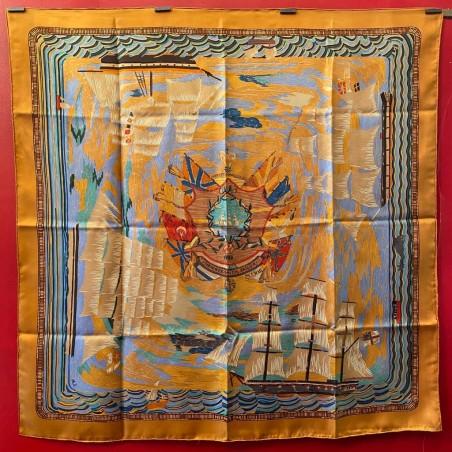 Carré foulard Hermès Henry-F Smith sailor