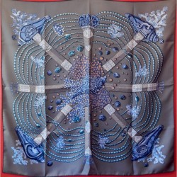 Carré foulard Hermès Chemin...