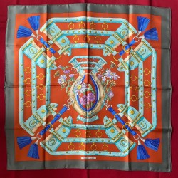 Carré foulard Hermès Aux...