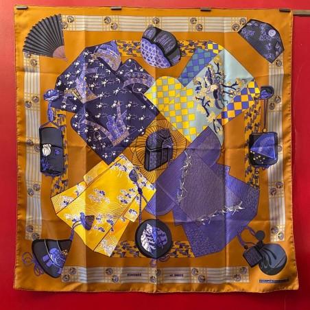 Carré foulard Hermès Kimonos et inros
