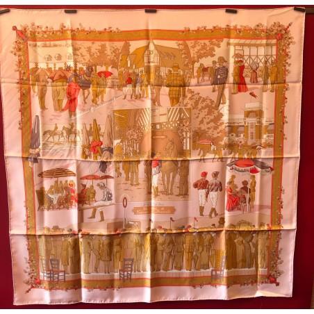 Carré foulard Hermès Un siècle de courses à Deauville